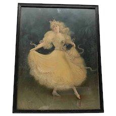 Hal Ludlow 1861-1947 Ballerina Print