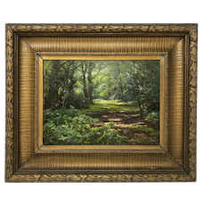 Frederick Golden Short Forest Scene Painting