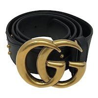 Vintage Gucci 409402 Women's Studded Leather Belt