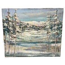 Canadian Paul Emile Genest Winter Scene Painting