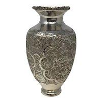 Large Islamic Sterling Silver Vase