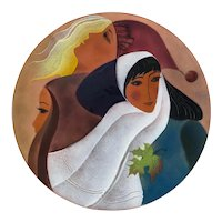 Lilyanne Huguet David Enamel Plate