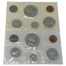 1961 & 1962 Canada Silver Prooflike sets Uncirculated