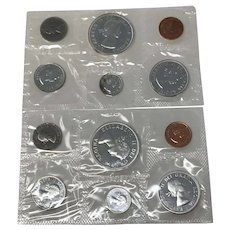 1962 & 1963 Canada Silver Prooflike sets Uncirculated