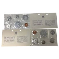 1964 & 1965 Canada Silver Prooflike sets Uncirculated