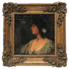 Late 18th Century Young Lady Portrait Painting