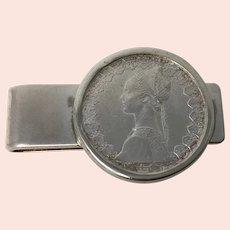 925 Silver 500 Italian Lira Money Clip