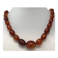 Vintage Faceted Baltic Amber Necklace
