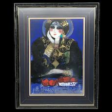 Nasser Ovissi Thinking Lady Painting