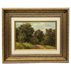 German Theodor Kotsch 1818-1884 Paysage Boise Painting