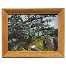 E.M. Ritchie Cap aux Oies 1936 Painting