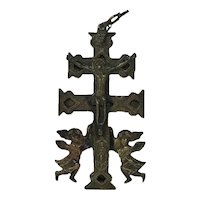 Spanish Bronze Cross of Caravaca
