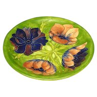 "Moorcroft Made in England Anemone 10 1/2"" Plate"