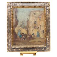 Italian European Painting Campiello Veneziano E. Zeno 1880-