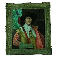 Desla Velay European Painting of a Musketeer