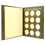 Franklin Mint 1976 Medallic Yearbook Set of 12 Sterling Medals
