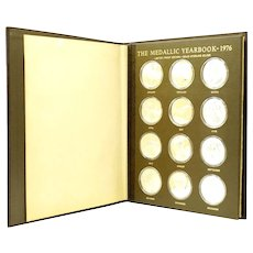 Franklin Mint 1976 medal yearbook set of 12 sterling medals