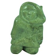 Inuit eskimo serpentine stone sculpture of a man