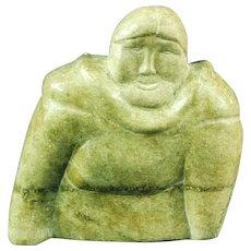 Inuit Eskimo serpentine sculpture of a woman