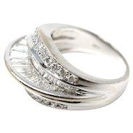 Vintage estate 18k white gold diamond ring 2.3 carat with COA size 6.5
