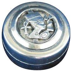 Sterling silver pill box Nefertiti design N.2