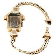 Vintage Lucien Picard 14k rose gold ruby diamond ladies watch