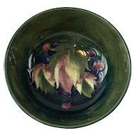 Moorcroft pottery England bowl wisteria design