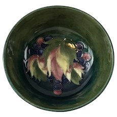 Moorcroft pottery England bowl leaf and berries design