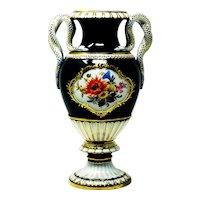 Meissen porcelain snake handle vase
