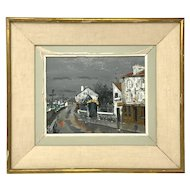 Gabriel Ferro painting 1903-1981 13 1/4 inches x 15 1/4 inches Hotel de Banlieue