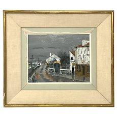 Gabriel Ferro painting 1903-1981 13 1/4 inches x 15 1/4 inches Hotel de Banlieue