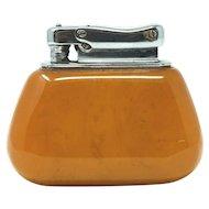 Vintage Amber Lighter Colibri Monopol