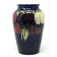 William Moorcroft vase wisteria design 6 1/4 inches tall