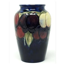 William Moorcroft vase wisteria design 6 1/4 inches tall