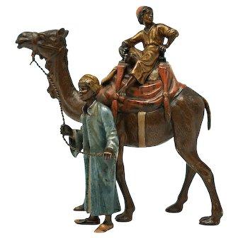 Antique Vienna Bronze Sculpture by Franz Bergmann 7 inches tall
