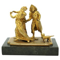 Bronze Ormolu Sculpture signed by Antonio Pandiani