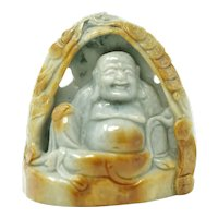 Antique Chinese Jade Buddha Figurine