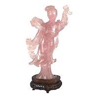 Antique Chinese Quartz lady figurine