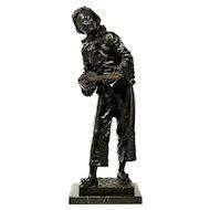 Eutrope Bouret bronze sculpture signed by artist