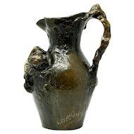 Charles Vital Cornu bronze jug