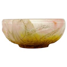 Daum Nancy art nouveau style signed bowl
