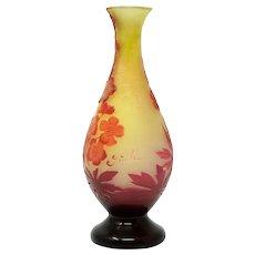 Emile Galle cameo glass vase