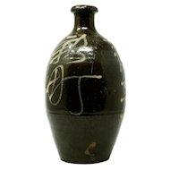 Antique Japanese Edo Period Sake Bottle