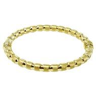 Italian 18K gold bracelet Uno a Erre