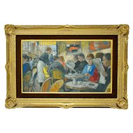 European French Oil Painting by Francois Gall Signed