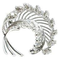 Vintage 18k ladies diamond brooch