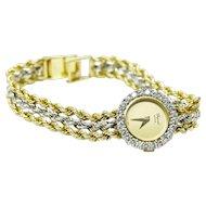 Chopard Geneve 18k gold ladies watch with diamonds