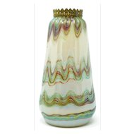 Loetz Iridescent Vase with rim