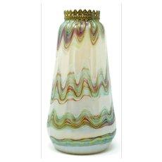 Loetz Iridescent Vase with rim