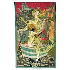 Tapestry by Roger Bezombes 1913-1994 Aubusson Hamot Les Vendanges